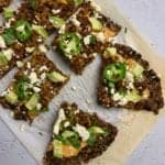 healthy taco pizza recipe with black bean pizza crust 2