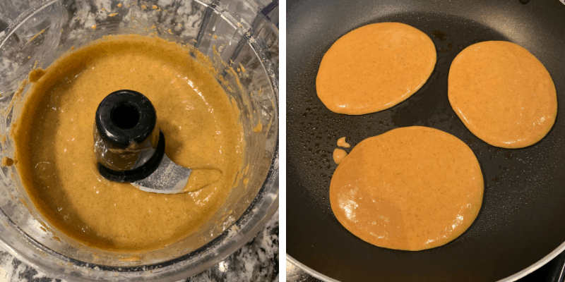 how to make cookie butter protein powder pancakes