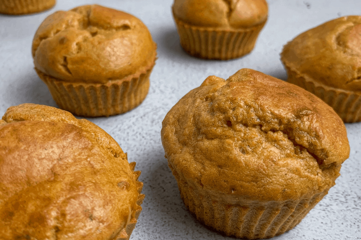 low carb pumpkin protein muffins featured image