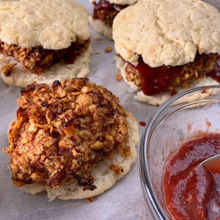oven baked crispy chicken biscuits recipe