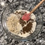 oatmeal bake dry ingredients in a bowl