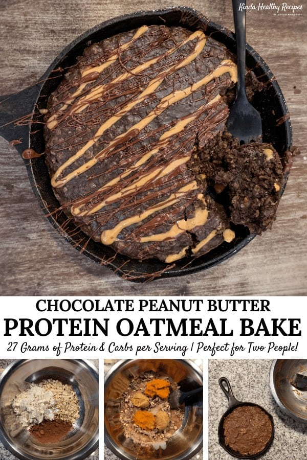 Perfect for a protein-packed, filling breakfast or sweet tooth fix later in the day, this chocolate peanut butter oatmeal bake is a must try. You'll only need a handful of ingredients and about 20 minutes to make it!