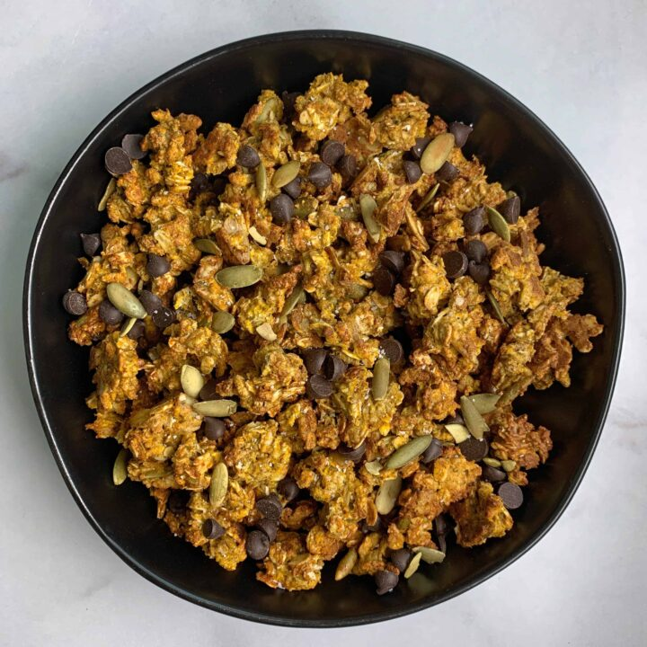 high protein low carb pumpkin spice granola