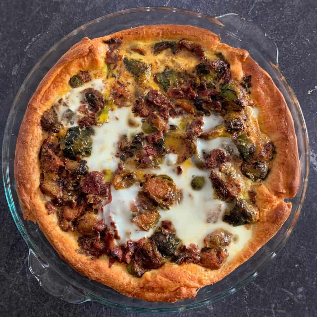honey bacon and brussels sprouts healthy breakfast pie recipe 2