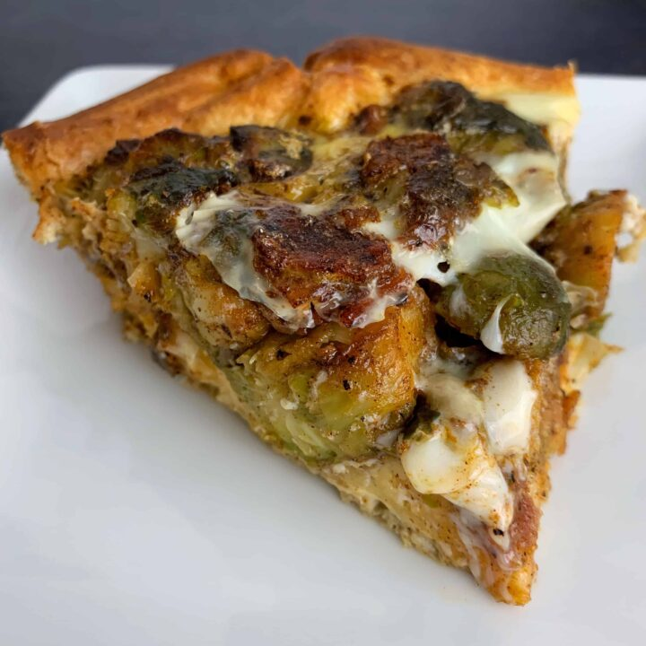 Honey Bacon and Brussels Sprouts Breakfast Pie