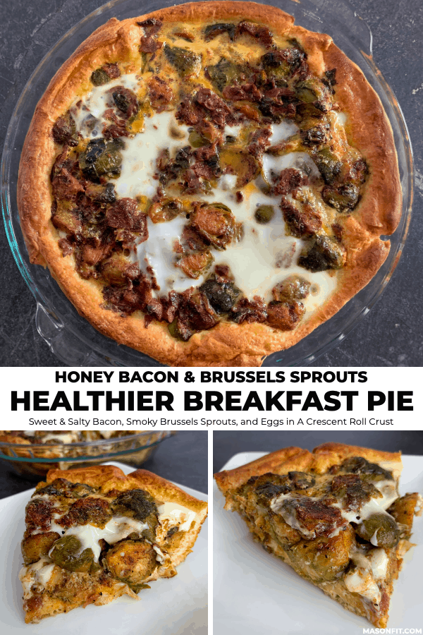 Who says you can't have a pie for breakfast? This quick and easy breakfast pie turns frozen brussels sprouts and precooked bacon into a unbelievably scrumptious dish with just 180 calories per slice!