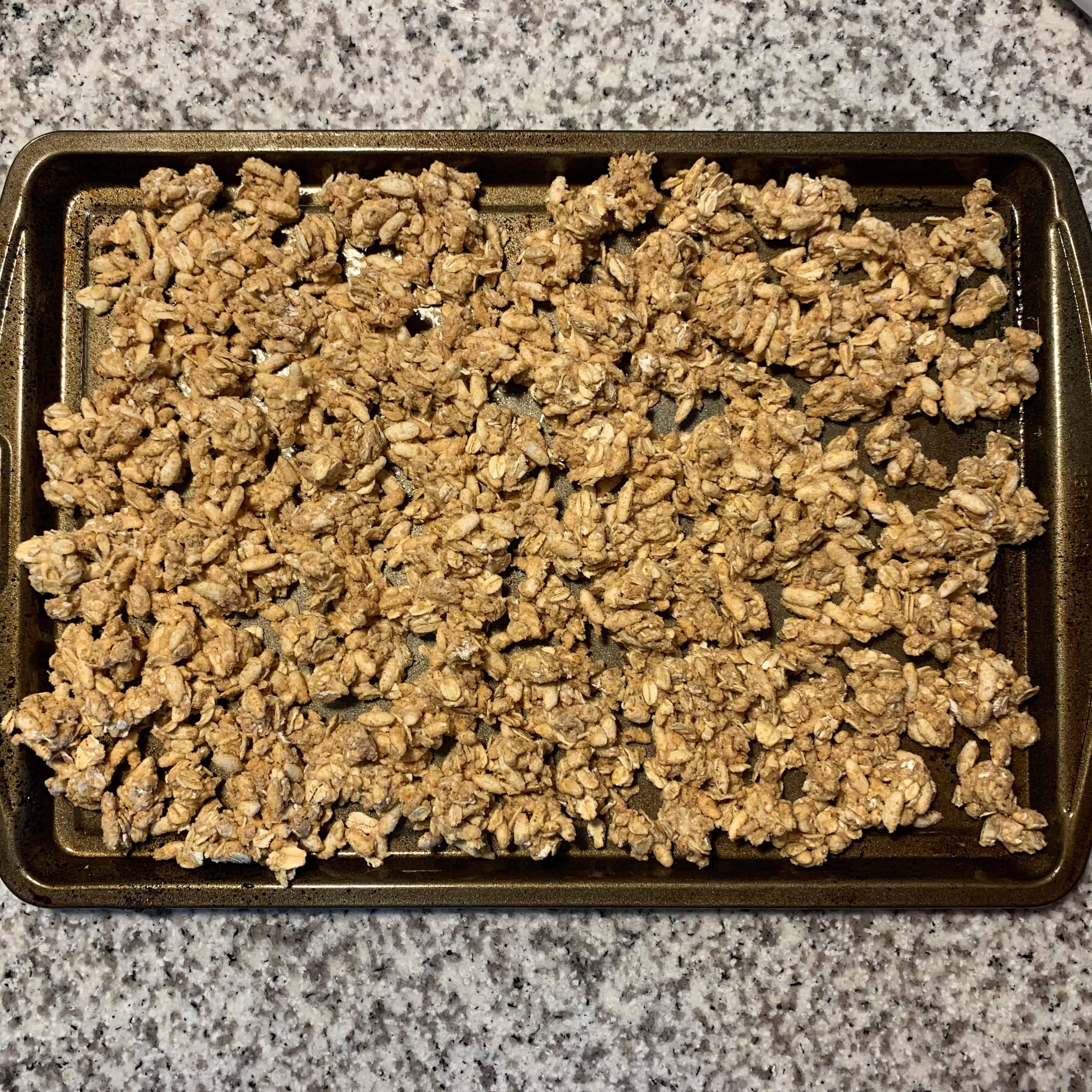 protein granola before baking