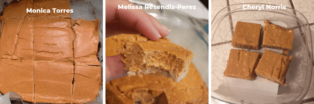 three different pumpkin cheesecake bars made my readers