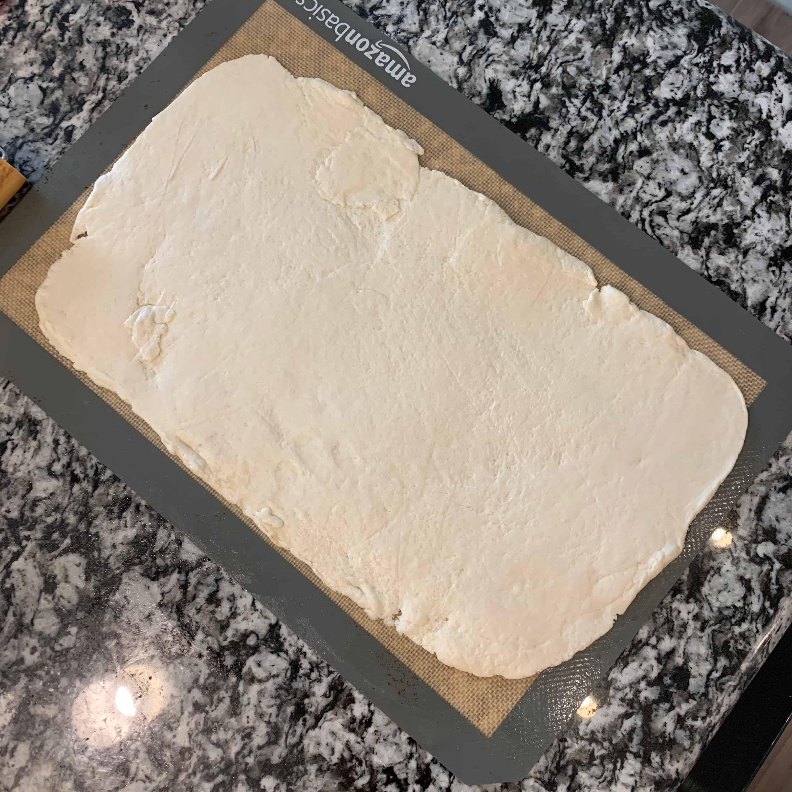2 ingredient dough on a baking mat