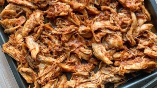 Honey Chipotle Crockpot Pulled Chicken