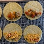corn tortillas with chicken and peppers inside