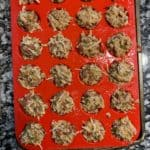 pizza bites in the muffin mold before baking