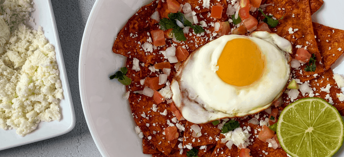 Quick and Easy Healthy Chilaquiles Rojos