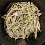 frozen green beans in the air fryer basket