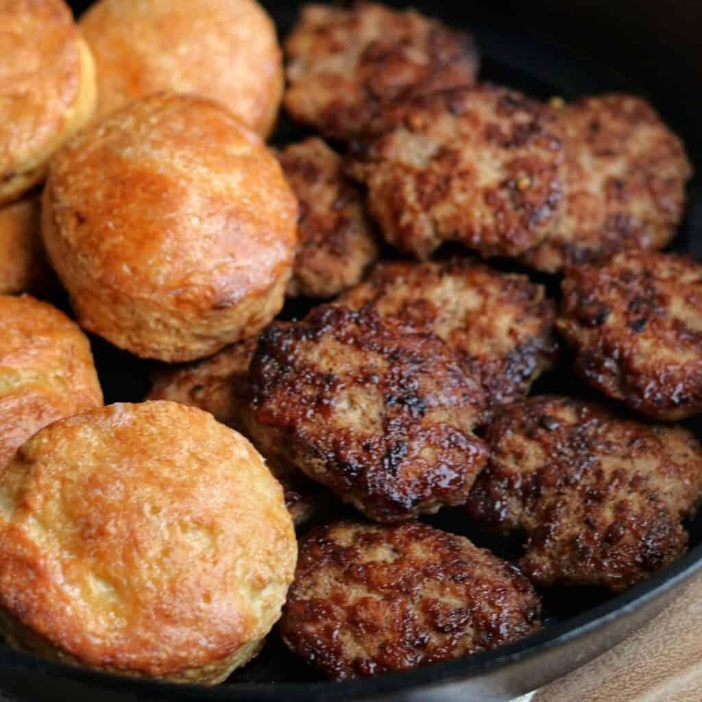 chicken breakfast sausage and greek yogurt biscuits