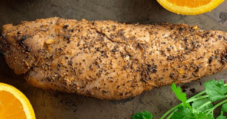 Cuban Style Baked Pork Tenderloin