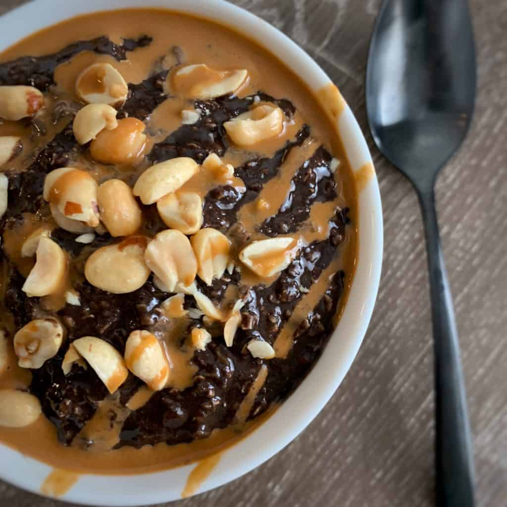 snickers protein oatmeal