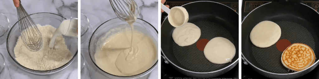 recipe steps for protein powder pancakes