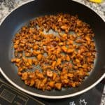 sweet potato hash browns after uncovering and flipping
