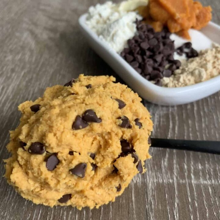Peanut Butter Chocolate Chip Protein Cookie Dough