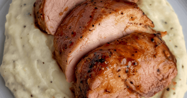 Oven Roasted Brown Sugar Honey Mustard Pork Tenderloin