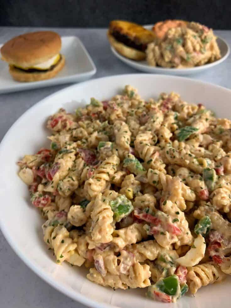 Southern Style Healthy Pasta Salad