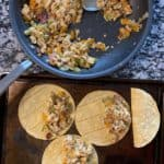 filling the breakfast tacos
