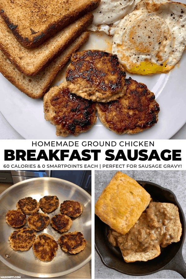Perfect for breakfast meal prep, these ground chicken sausage patties taste just like the sausage you'd order at a country diner. They are packed with protein and super easy to make!