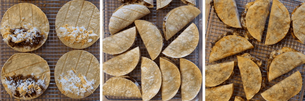 how to fold the beef oven baked tacos