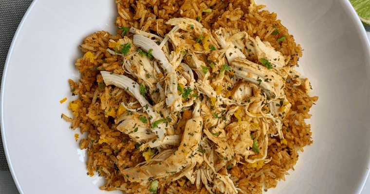 Spicy Citrus Slow Cooker Chicken and Rice