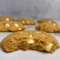 White Chocolate Peanut Butter Protein Cookies