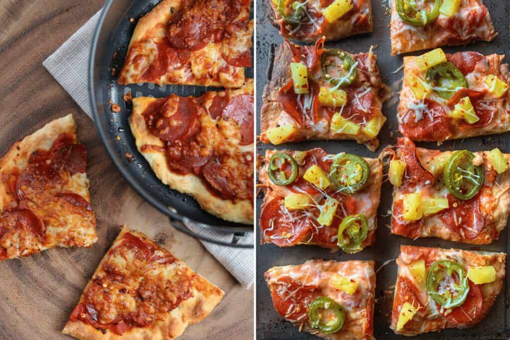 air fryer pizza and low calorie baked pizza