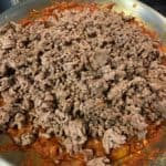bolognese sauce before adding the beef