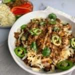 high volume taco meal prep bowls