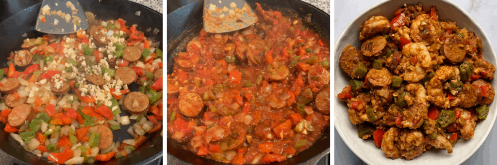 how to cook the low carb jambalaya with cauliflower rice and shrimp
