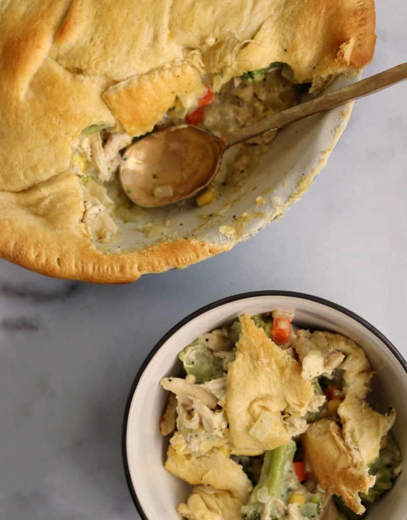 Crescent Roll Chicken Pot Pie