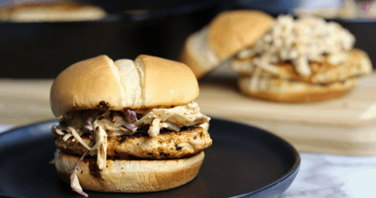 Chipotle Ranch Ground Chicken Burgers