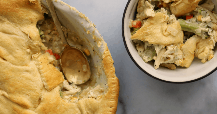 Crescent Roll Chicken Pot Pie