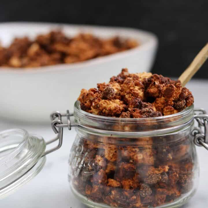 high protein butterfinger healthy granola recipe