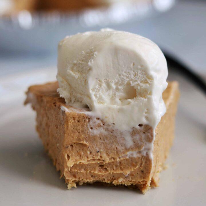 high protein no bake pumpkin pie cheesecake