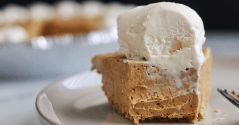 No Bake Pumpkin Pie Protein Cheesecake