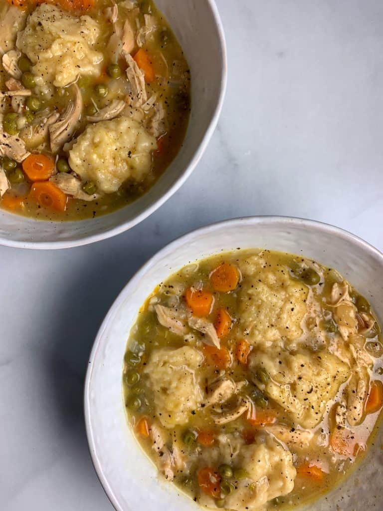 southern chicken and dumplings with rotisserie chicken