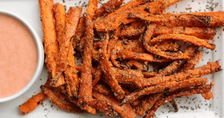 Garlic Parmesan Air Fryer Carrot Fries