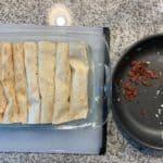 breakfast enchiladas before adding cheese sauce