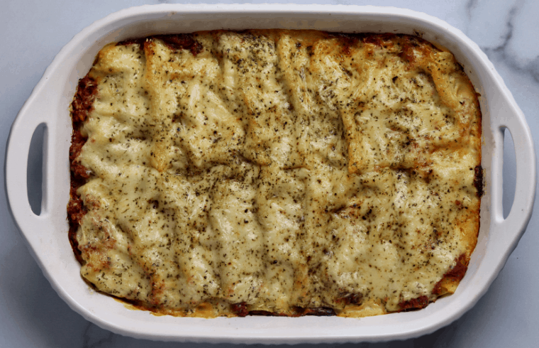 Low Fat Beef and Ricotta Cannelloni