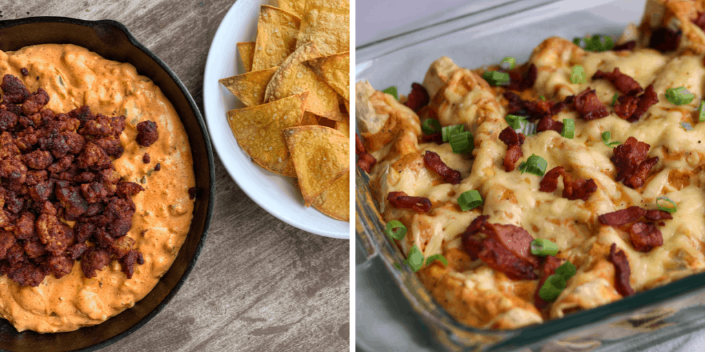chorizo dip and bacon gouda breakfast enchiladas