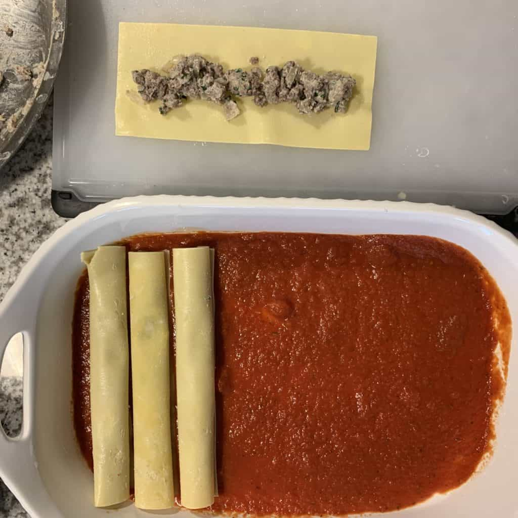 lasagne sheets filled for cannelloni