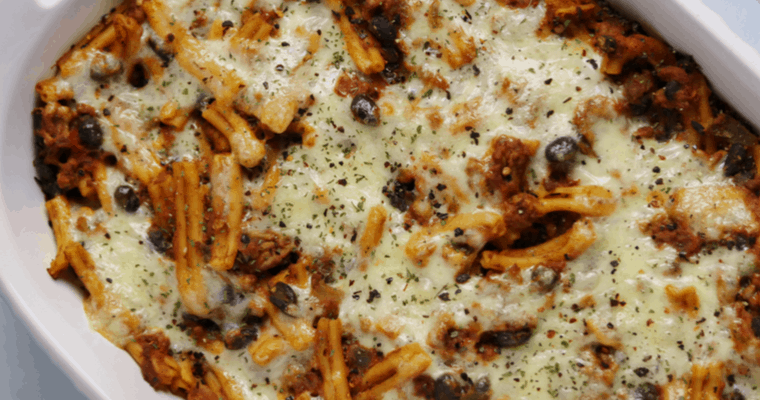 Hatch Green Chile and Pumpkin Pasta Casserole