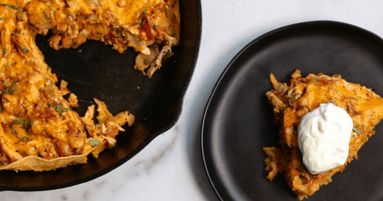 Healthy King Ranch Chicken Casserole