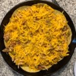 finished king ranch chicken before baking